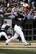 CHICAGO - APRIL 17:  Adam Dunn #32 of the Chicago White Sox bats against the Los Angeles Angels of Anaheim on April 17, 2011 at U.S. Cellular Field in Chicago, Illinois.  The Angels defeated the White Sox 4-2.  (Photo by Ron Vesely)  Subject:  Adam Dunn