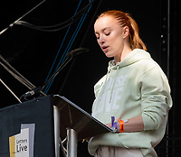 Phoebe Dynever letters live at the  Wilderness Festival Cornbury Park Oxfordshire,photo by Mark Anton Smith