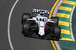 March 23, 2018 - Melbourne, Victoria, Australia - STROLL Lance (can), Williams F1 Mercedes FW41, action during 2018 Formula 1 championship at Melbourne, Australian Grand Prix, from March 22 To 25 - Photo DPPI Motorsports: FIA Formula One World Championship 2018, Melbourne, Victoria : Motorsports: Formula 1 2018 Rolex  Australian Grand Prix,   #18 Lance Stroll ( CAN, Williams Martini Racing) (Credit Image: © Hoch Zwei via ZUMA Wire)