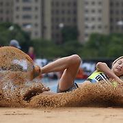 Linda Leverton, Australia, in action during the Women's Triple Jump competition during the Diamond League Adidas Grand Prix at Icahn Stadium, Randall's Island, Manhattan, New York, USA. 14th June 2014. Photo Tim Clayton