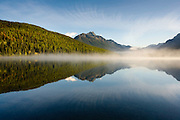 Morning on Bowman Lake, Glacier National Park.