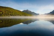 Morning on Bowman Lake, Glacier National Park.