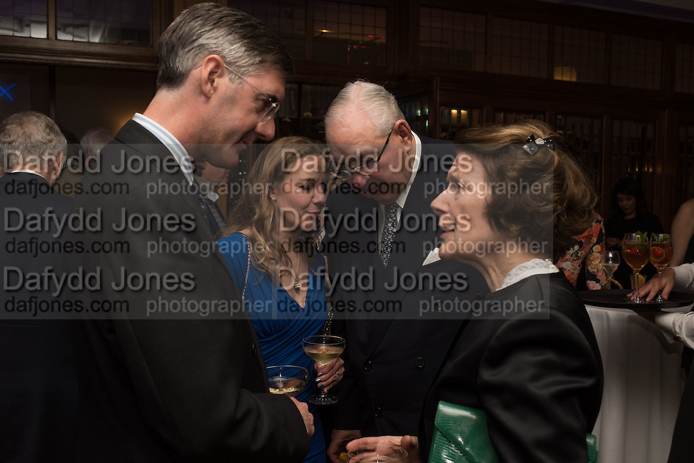 JACOB REES-MOGG; HELENA REES-MOGG;  HENRY KESWICK; TESSA KESWICK, The Brown's Hotel Summer Party hosted by Sir Rocco Forte and Olga Polizzi, Brown's Hotel. Albermarle St. London. 14 May 2015