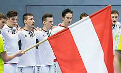 07.01.2017, BSFZ Suedstadt, Maria Enzersdorf, AUT, IHF Junior WM 2017 Qualifikation, Österreich vs Tschechische Republik, im Bild Moritz Mittendorfer (AUT), Marin Martinovic (AUT), Henry Stummer (AUT), Philipp Seitz (AUT), Konrad Wurst (AUT) // during the IHF Men's Junior World Championships qualifying match between Austria and Czech Republic at the BSFZ Suedstadt, Maria Enzersdorf, Austria on 2017/01/07, EXPA Pictures © 2017, PhotoCredit: EXPA/ Sebastian Pucher