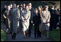 December 25, 2019, Sandringham, United Kingdom: Image licensed to i-Images Picture Agency. 25/12/2019. Sandringham, United Kingdom. Earl and Countess of Wessex and their children arriving at  the Christmas Day church service at Sandringham in Norfolk, United Kingdom. (Credit Image: © Stephen Lock/i-Images via ZUMA Press)