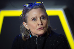 Carrie Fisher attending the premiere of 'Star Wars: The Force Awakens' in Leicester Square, London