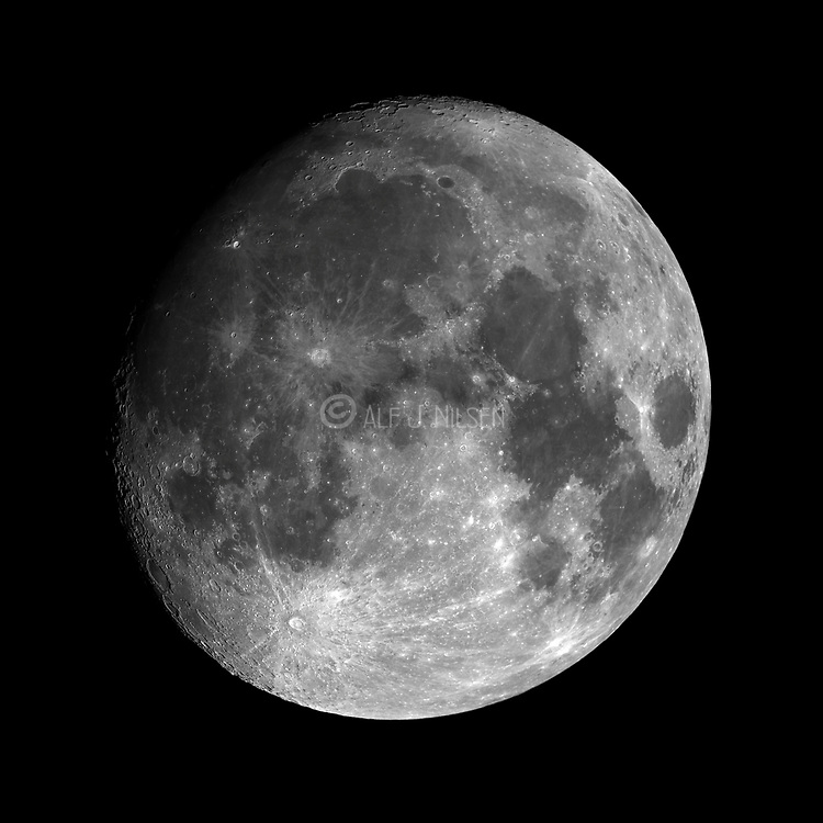 The Moon on December 9th 2019 (~92% of full phase).