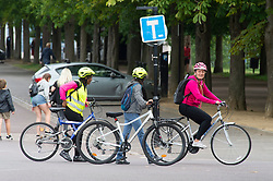 ©Licensed to London News Pictures 02/07/2020     <br /> Greenwich, UK. People out and about in Greenwich Park, Greenwich, London today as the Coronavirus lockdown is eased. The weather continues to be unsettled with heavy rain and sunshine. Photo credit: Grant Falvey/LNP