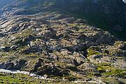 Glacial polish (Schlatenkees, Großvenediger), High Tauern National Park (Nationalpark Hohe Tauern), Central Eastern Alps, Austria | Gletscherschliff (Detersion) des Schlatenkees. Nationalpark Hohe Tauern, Großvenediger in der Venedigergruppe, Osttirol in Österreich