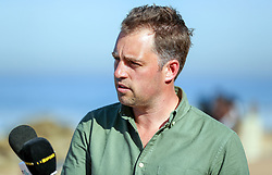 Chris Jones BBC rugby reporter and commentator at the beach.In front of the team Hotel Umhlanga, Durban,South Africa.19,06,2018 Photo by (Steve Haag JMP)