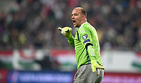 Fotball , 15. november 2014 ,<br /> Play-off , Ungarn - Norge <br /> EURO 2016 - Qualification: play-off 2<br /> Hungary -Norway 0-2<br /> Gabor Kiraly , Ungarn