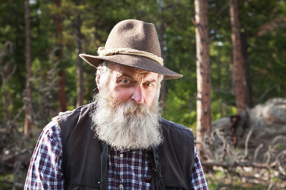 Glaciologist, author, and photographer William Tad Pfeffer near his home in Nederland, Colorado.