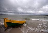 Deszczowy początek lipca nad polskim Bałtykiem