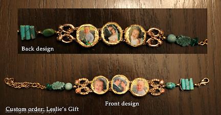 Custom photo jewelry bracelet by Star Nigro