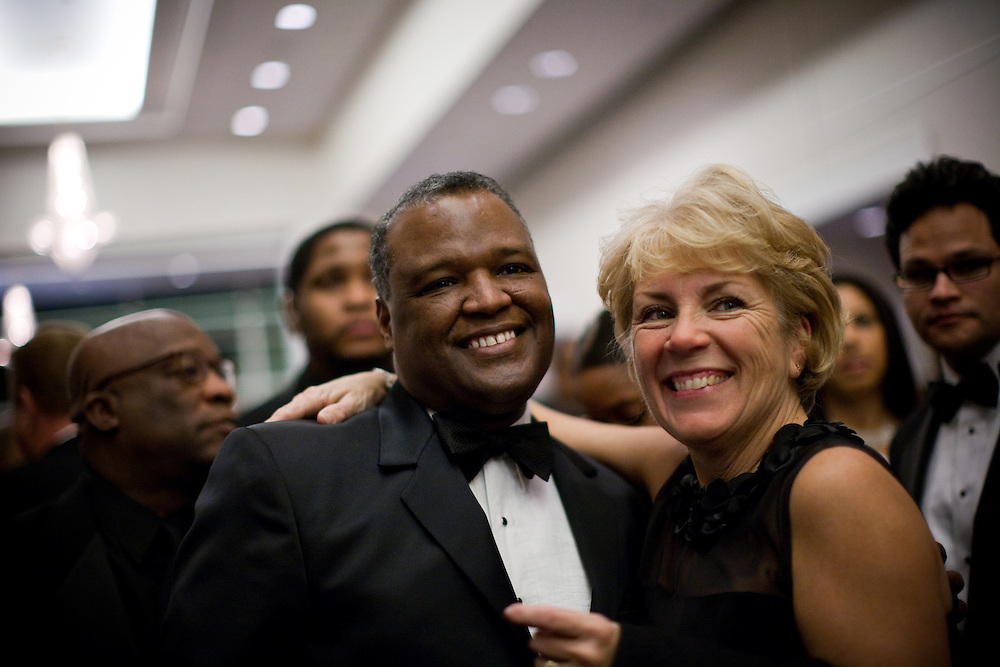 NATIONAL HARBOR, MD - DECEMBER 6: Prince George's County Executive-Elect Rushern Baker III greets a supporter during the inaugural ball at Gaylord National Convention on December 6, 2010 in National Harbor, Maryland. (Photo by Michael Starghill, Jr.)