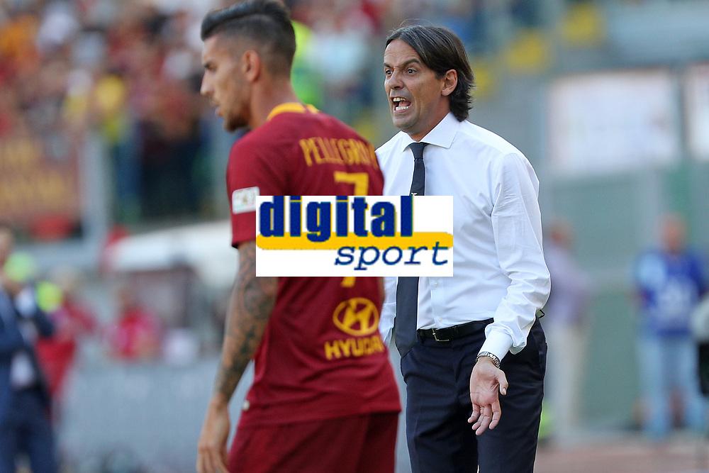 Simone Inzaghi Lazio<br />Roma 28-09-2018 Stadio Olimpico Football Calcio Serie A 2018/2019 AS Roma - Lazio Foto Luca Pagliaricci / Insidefoto
