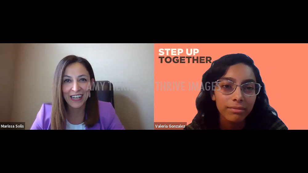 Frito Lay Sr. Vice President Marissa Solis, Step Up Women's Network Alum Valeria Gonzalez