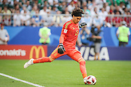 Guillermo Ochoa of Mexico during the 2018 FIFA World Cup Russia, round of 16 football match between Brazil and Mexico on July 2, 2018 at Samara Arena in Samara, Russia - Photo Thiago Bernardes / FramePhoto / ProSportsImages / DPPI