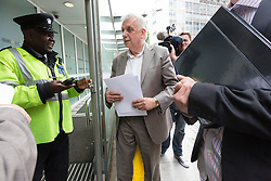 © Licensed to London News Pictures. 09/06/2015. London, UK. Tower Hamlets election petitioner ANDY ERLAM (Andrew Erlam) arriving at New Scotland Yard in central London on 8th June 2015. Andy Erlam and Danny Marks delivered new files of alleged evidence of election and financial fraud in Tower Hamlets to the Metropolitan Police Commissioner, Sir Bernard Hogan-Howe. Photo credit : Vickie Flores/LNP