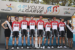 February 14, 2018 - Lagos, Portugal - Lotto Soudal before the 1st stage of the cycling Tour of Algarve between Albufeira and Lagos, on February 14, 2018. (Credit Image: © Str/NurPhoto via ZUMA Press)