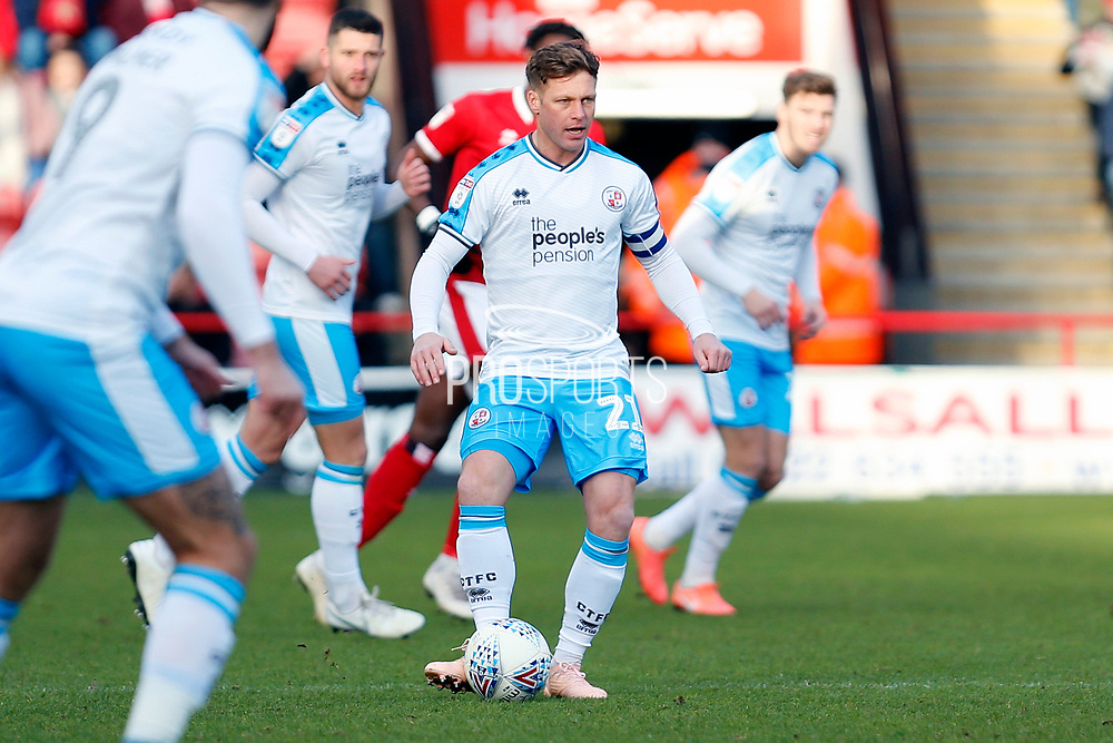 Dannie Bulman on the ball during the EFL Sky Bet League 2 match between Walsall and Crawley Town at the Banks's Stadium, Walsall, England on 18 January 2020.