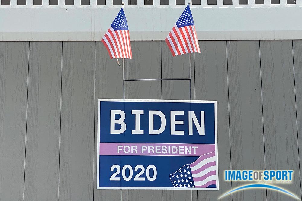 A Biden for President 2020 sign at a residence, Thursday, Sept. 17, 2020, in Monterey Park, Calif.