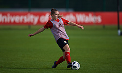 NEWPORT, WALES - Friday, October 5, 2018: Wales' Cerys Jones during a training session at Dragon Park. (Pic by David Rawcliffe/Propaganda)