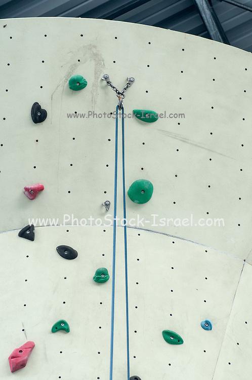 Safety equipment at an artificial rock climbing wall