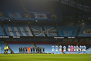 minutes applause for Diego Maradona  during the Premier League match between Manchester City and Burnley at the Etihad Stadium, Manchester, England on 28 November 2020.