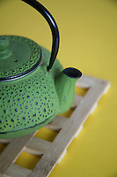 Traditional japanese cast iron teapot