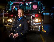 Retiring firefighter Steve Dahlgren. (Photo © Andy Manis)