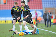 Sam Hart during the EFL Sky Bet League 1 match between Wigan Athletic and Rochdale at the DW Stadium, Wigan, England on 24 February 2018. Picture by Daniel Youngs.
