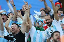 NIZHNY NOVGOROD, June 21, 2018  Fans of Argentina cheer prior to the 2018 FIFA World Cup Group D match between Argentina and Croatia in Nizhny Novgorod, Russia, June 21, 2018. (Credit Image: © Yang Lei/Xinhua via ZUMA Wire)