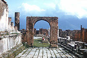 Ancient Rome: Pompeii. Arch and paved walkway. 1st century AD.