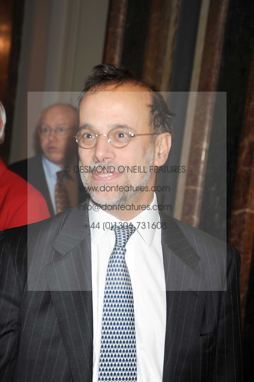 GEORGE LEMOS at the opening of the Royal Academy of Arts Byzantium 330-1453 exhibition held at the RA, Burlington House, Piccadilly, London on 21st October 2008.