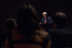 © Licensed to London News Pictures . 28/11/2012 . Nottingham , UK . Sir Michael Parkinson CBE addresses the National Council for the Training of Journalists at the Journalism Skills Conference gala dinner at the Nottingham Contemporary gallery . Photo credit : Joel Goodman/LNP