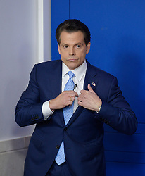 Newly appointed White House communications director Anthony Scaramucci attends a press briefing at the White House, on July 21, 2017 in Washington, DC. Photo by Olivier Douliery/ Abaca