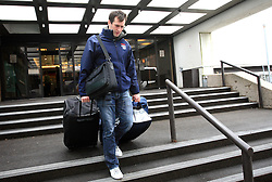 Tomaz Razingar at Slovenian National team packing and going from Citadel Hotel to the Halifax airport, when they finished with games at IIHF WC 2008 in Halifax, on May 11, 2008, Canada. (Photo by Vid Ponikvar / Sportal Images)