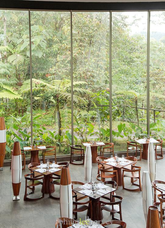 Restaurant at Mashpi Lodge, Cloud Forest, Mashpi Reserve, Distrito Metropolitano de Quito, Ecuador