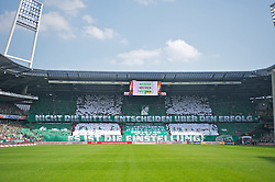 04.05.2013, Weserstadion, Bremen, GER, 1. FBL, SV Werder Bremen vs TSG 1899 Hoffenheim, 32. Runde, im Bild die Choreo der Bremer Fans vor Anpfiff // during the German Bundesliga 32nd round match between the clubs SV Werder Bremen vs TSG 1899 Hoffenheim at the Weserstadion, Bremen, Germany on 2013/05/04. EXPA Pictures © 2013, PhotoCredit: EXPA/ Andreas Gumz ***** ATTENTION - OUT OF GER *****