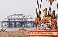Carousel on Brighton Beach, Brighton, East Sussex, Britain - 2010