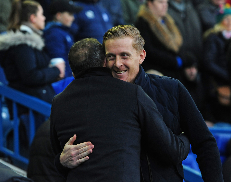 Middlesbrough manager Garry Monk, right, hugs Sheffield Wednesday manager Carlos Carvalhal before kick off<br /> <br /> Photographer Chris Vaughan/CameraSport<br /> <br /> The EFL Sky Bet Championship - Sheffield Wednesday v Middlesbrough - Saturday 23rd December 2017 - Hillsborough - Sheffield<br /> <br /> World Copyright © 2017 CameraSport. All rights reserved. 43 Linden Ave. Countesthorpe. Leicester. England. LE8 5PG - Tel: +44 (0) 116 277 4147 - admin@camerasport.com - www.camerasport.com