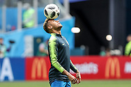 Neymar of Brazil warms up before the 2018 FIFA World Cup Russia, Group E football match between Brazil and Costa Rica on June 22, 2018 at Saint Petersburg Stadium in Saint Petersburg, Russia - Photo Thiago Bernardes / FramePhoto / ProSportsImages / DPPI