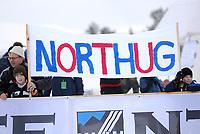 NM på ski 2007, menn senior 15 + 15 km pursuit<br /> Petter Northug jr. har sine supportere, illustrasjon, plakat<br /> Foto: Carl-Erik Eriksson, Digitalsport