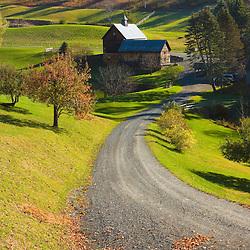 A rural Vermont scene in Pomfret, Vermont.