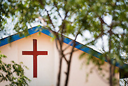 Exterior photograph of the Evangelical Lutheran Church in Tanzania – South-East of Lake Victoria Diocese (ELCT-SELVD) Bishop Emmanuel Makala Training Center on Friday, March 13, 2015, in Shinyanga, Tanzania. LCMS Communications/Erik M. Lunsford