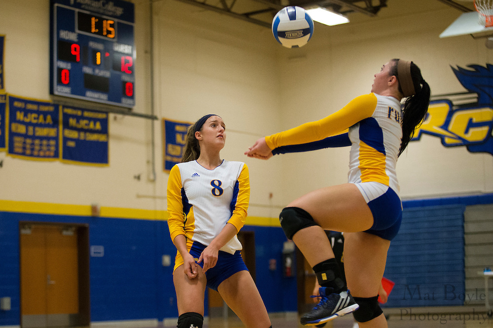 Passaic County Community College Women's Volleyball at Rowan College of Gloucester County in Sewell, NJ on Saturday October 3, 2015. (photo / Mat Boyle)