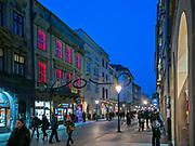 Ulica Floriańska w Krakowie.<br /> Floriańska Street in Cracow.