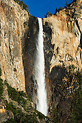 Afternoon light on Bridalveil Fall, Yosemite National Park, California USA