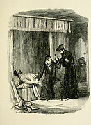 Doctor Dee Resuscitating Guy Fawkes From the book ' Guy Fawkes; or, The gunpowder treason. An historical romance ' by William Harrison Ainsworth, with illustrations on steel by  George Cruikshank. Published in London, by George Routledge and sons, limited in 1841. Guy Fawkes (13 April 1570 – 31 January 1606), also known as Guido Fawkes while fighting for the Spanish, was a member of a group of provincial English Catholics who was involved in the failed Gunpowder Plot of 1605. He was born and educated in York; his father died when Fawkes was eight years old, after which his mother married a recusant Catholic.